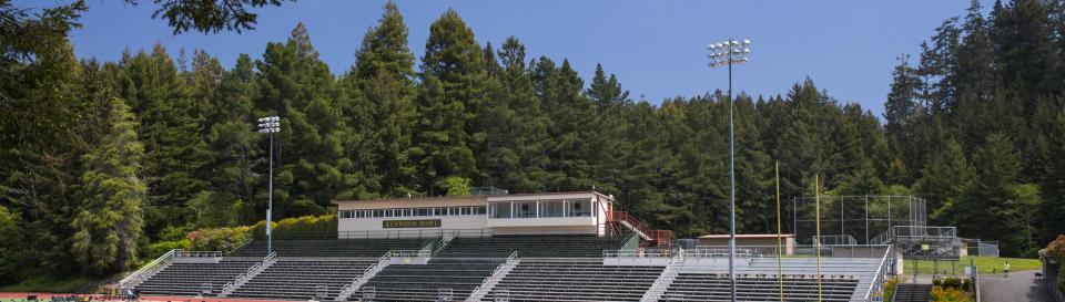 shot of the redwood bowl set up for commencement