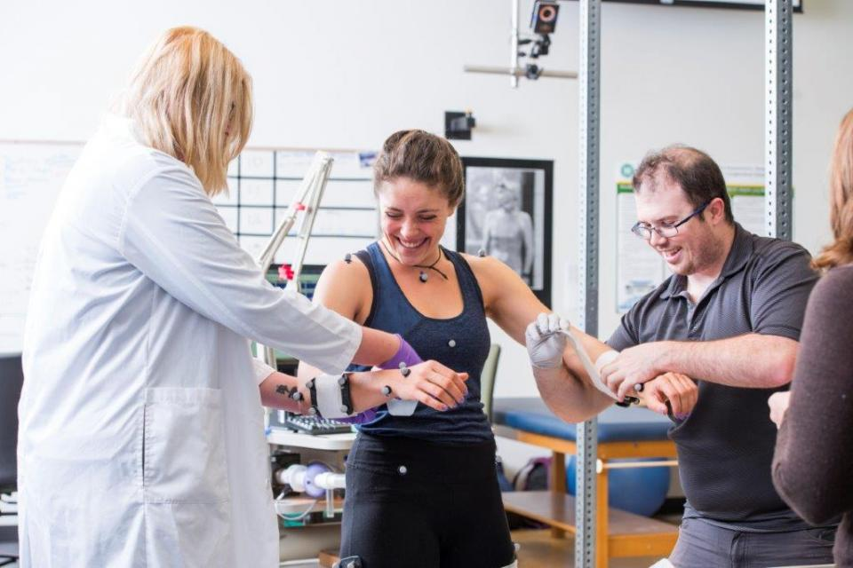 Student helps out with Kinesiology Department's research project